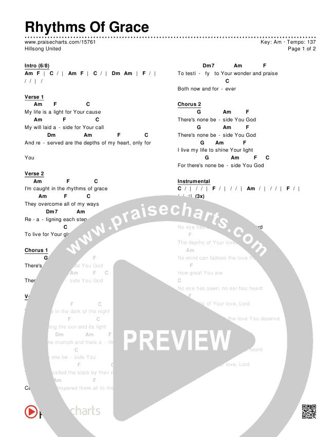 Rhythms Of Grace Chords & Lyrics (Hillsong UNITED)