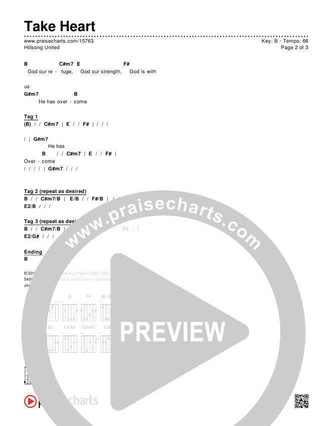 Take Heart Chords & Lyrics (Hillsong UNITED)