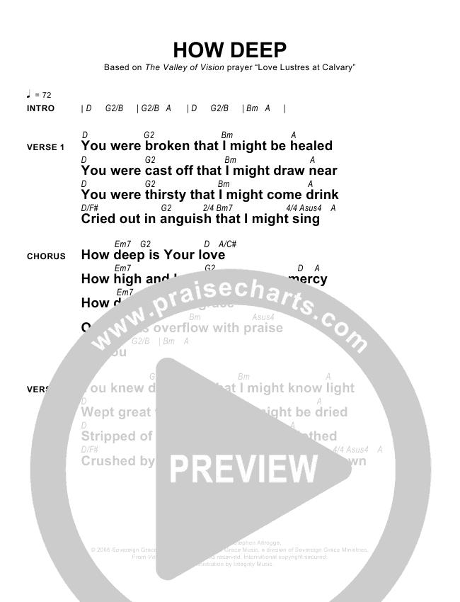 How Deep Chords - Sovereign Grace | PraiseCharts