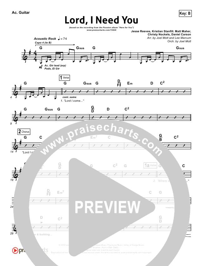 Lord I Need You Rhythm Chart - Chris Tomlin, Passion Band | PraiseCharts