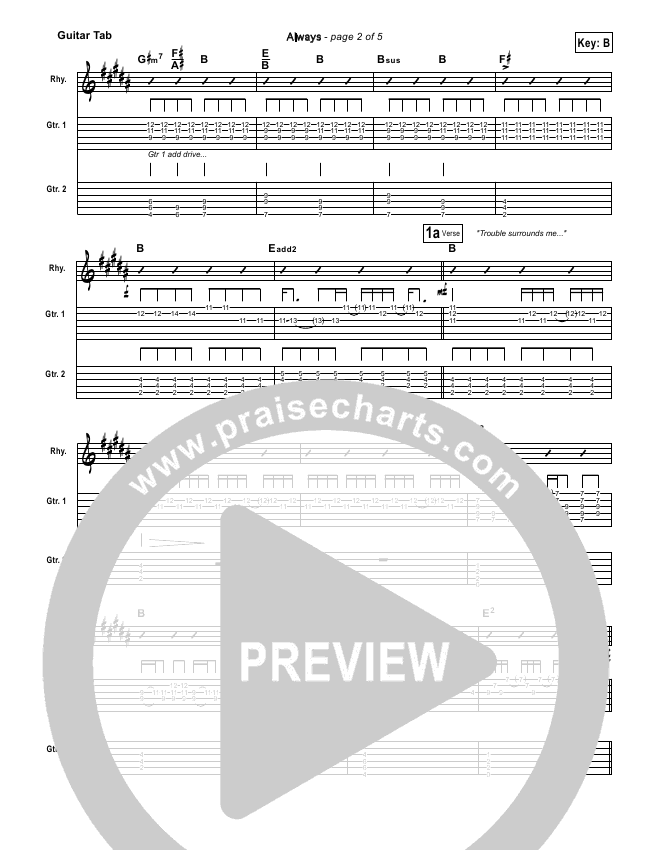 Always Guitar Tab Kristian Stanfill Passion Band Praisecharts