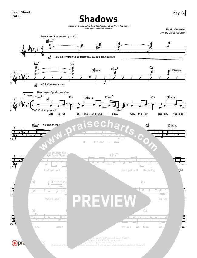 Shadows Orchestration (David Crowder / Passion)