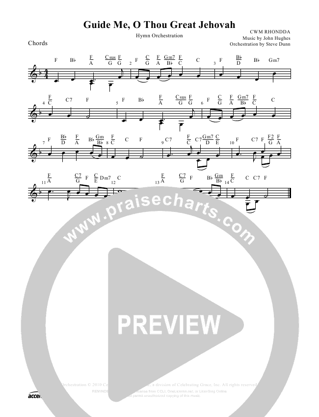 Guide Me O Thou Great Jehovah Orchestration ()