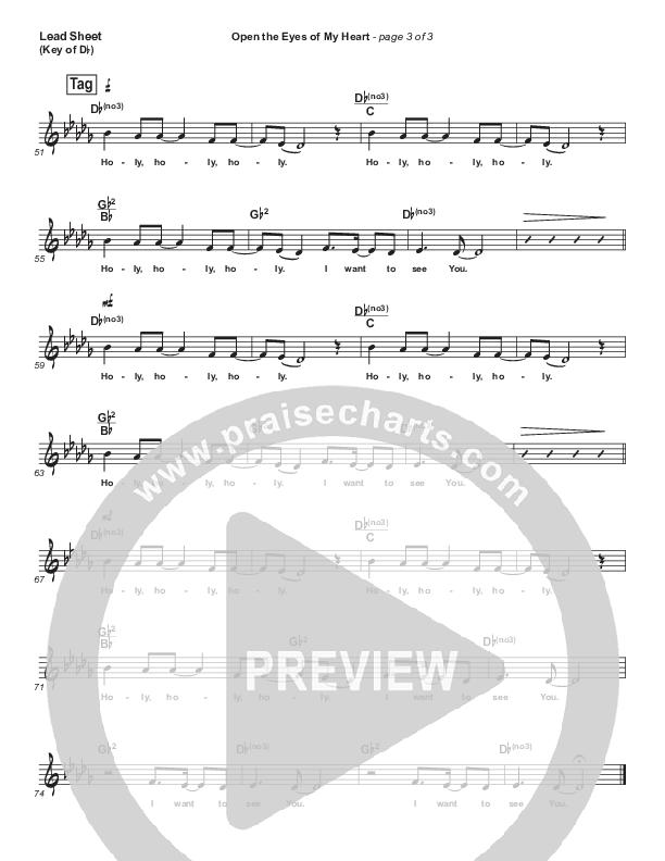 Open The Eyes Of My Heart Lead Sheet (Melody) (Paul Baloche)