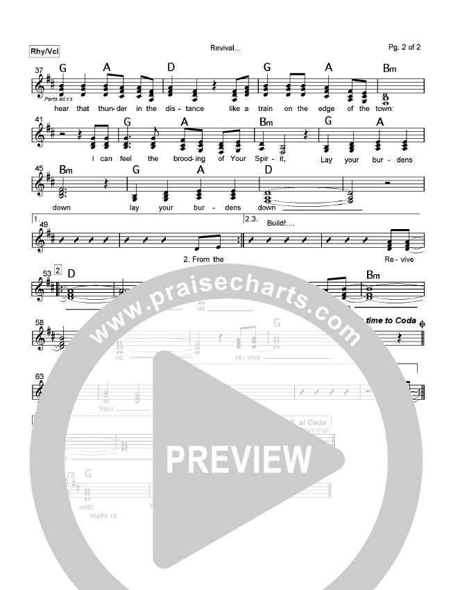 Revival Lead Sheet (Robin Mark)