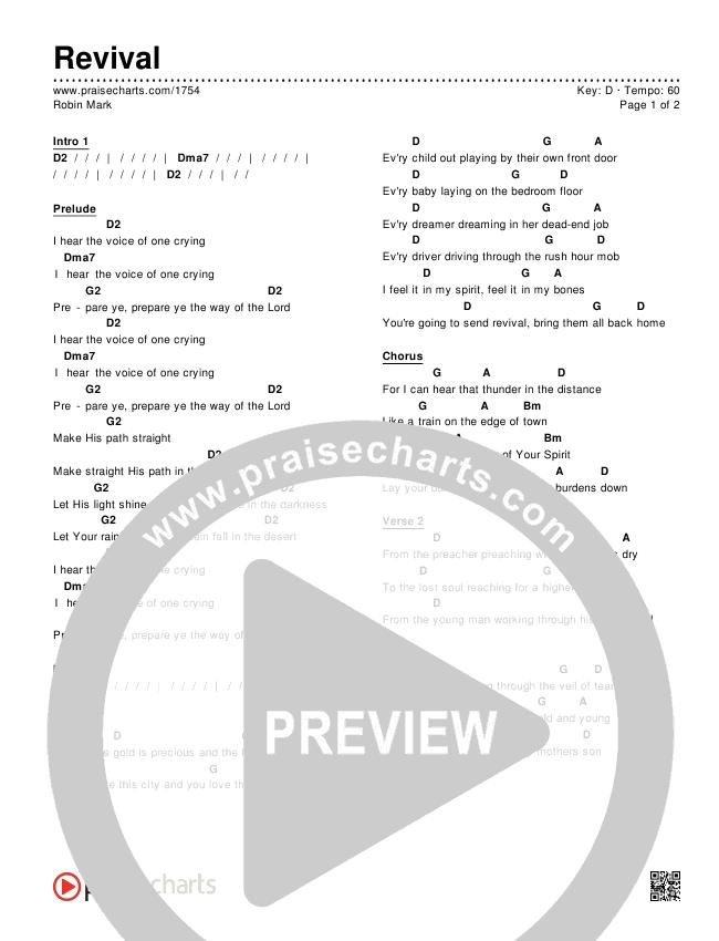 Revival Chords & Lyrics (Robin Mark)