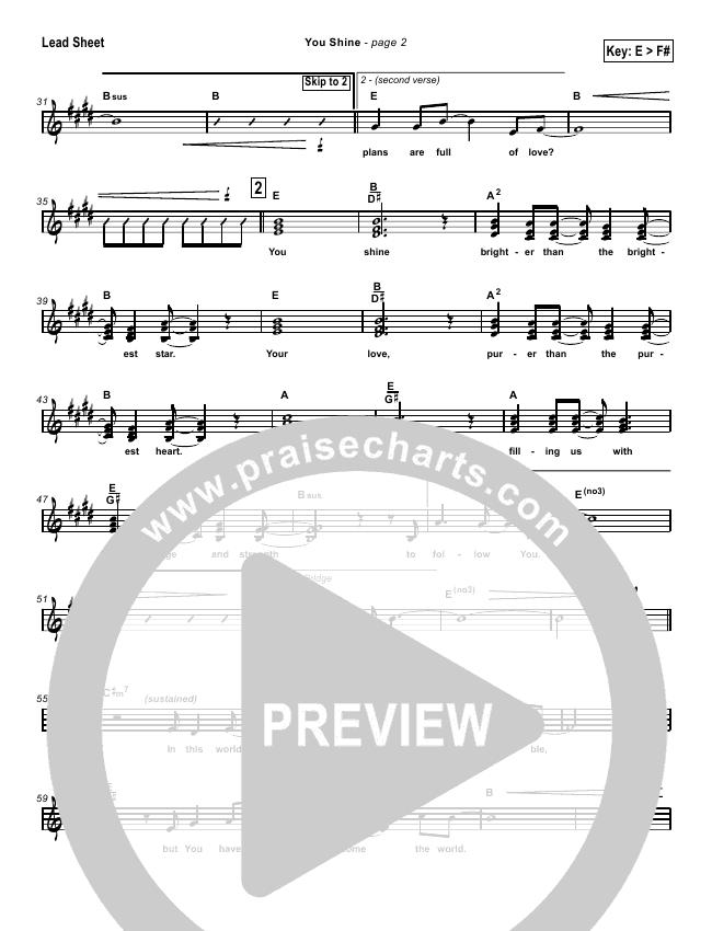 You Shine Lead & Piano/Vocal (Brian Doerksen)