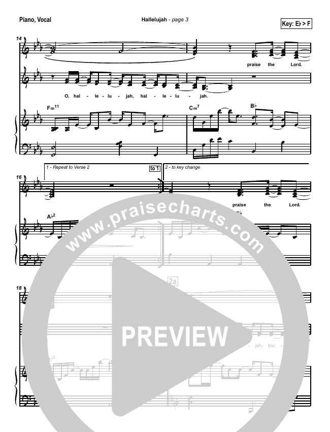 Hallelujah (Praise the Lord) Piano/Vocal (SATB) (Travis Cottrell)
