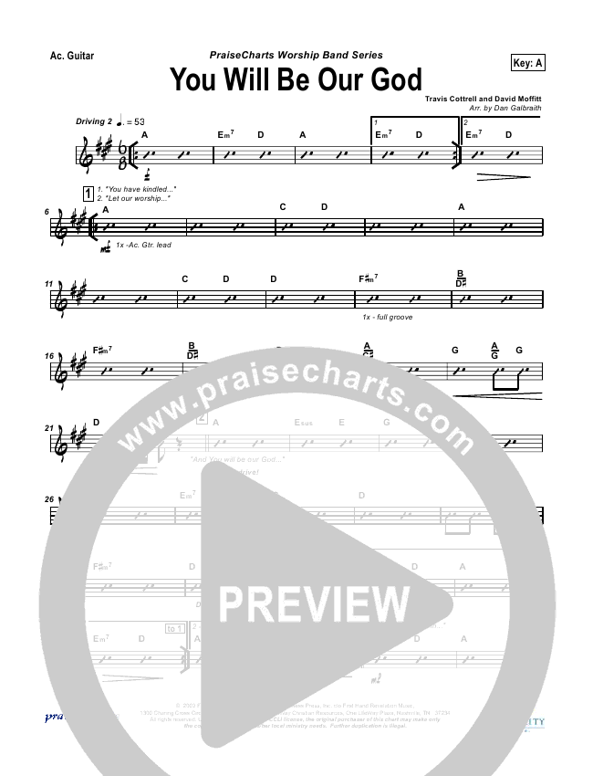 You Will Be Our God Rhythm Chart (Travis Cottrell)