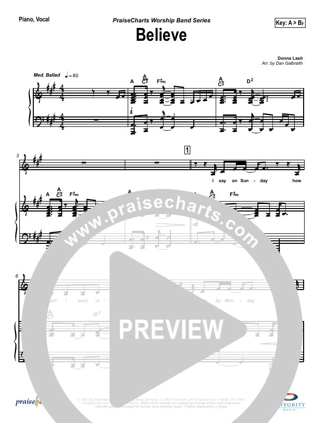 Believe Piano/Vocal (SATB) (Jason Breland)