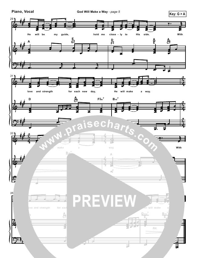 god will make a way sheet music pdf