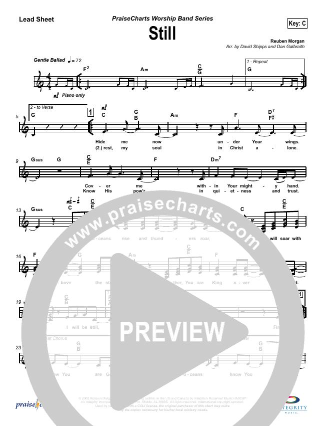 Still Lead Sheet (SAT) (Hillsong Worship)