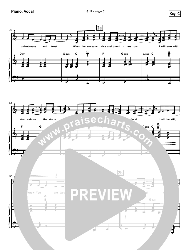 Stillorchestration Hillsong Worship Praisecharts