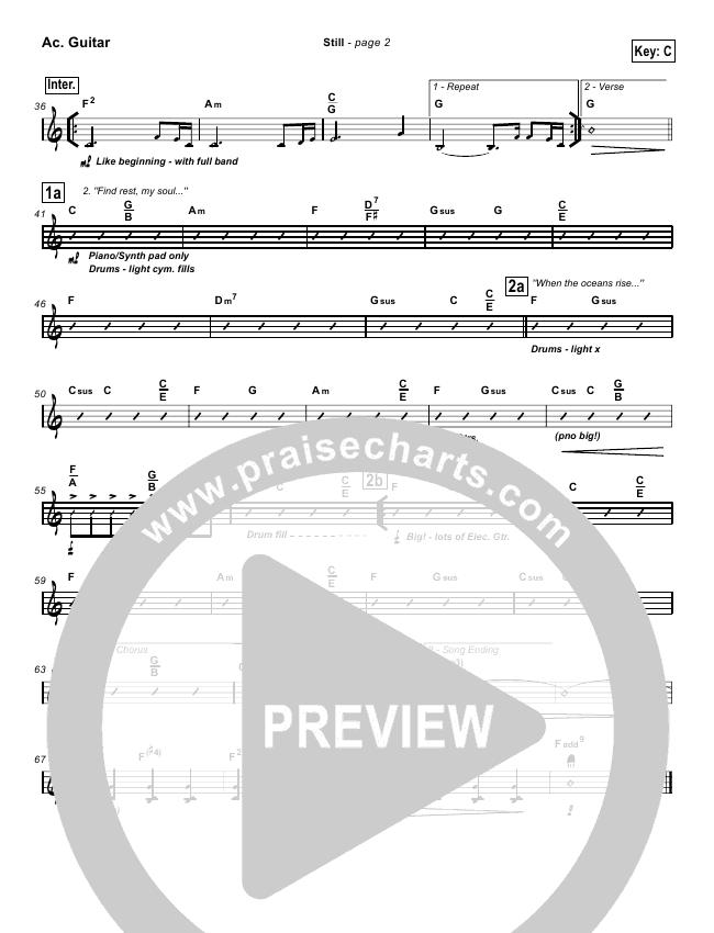 Still Orchestration Hillsong Worship Praisecharts