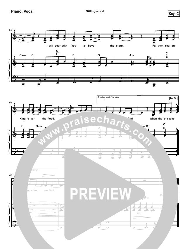 Still Hillsong piano Sheet