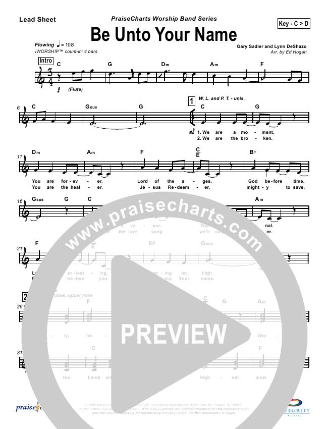 be unto your name piano sheet music pdf