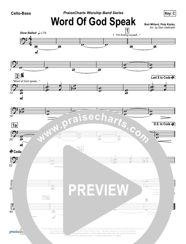 Word Of God Speak String Pack (MercyMe)