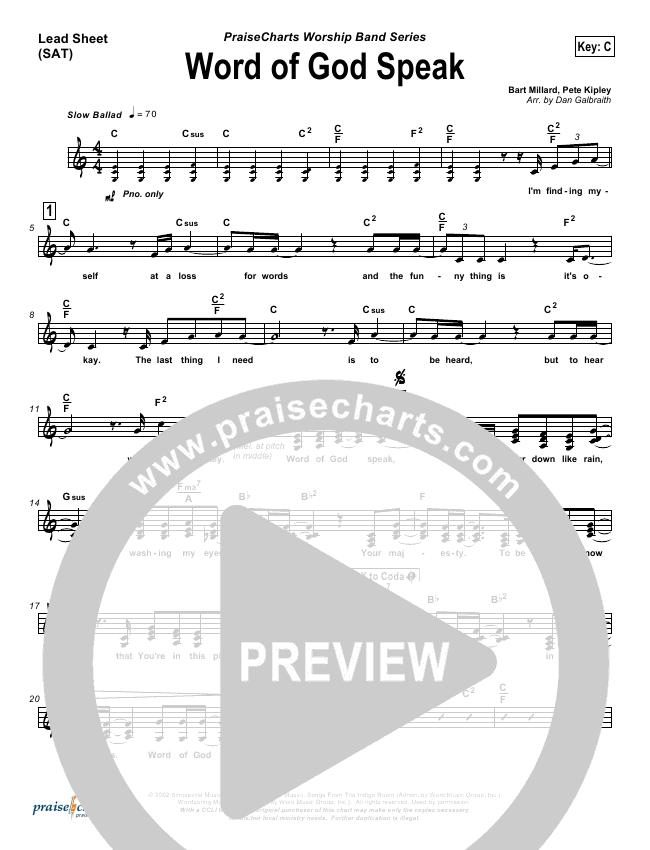 Word Of God Speak Orchestration & Finale (MercyMe)