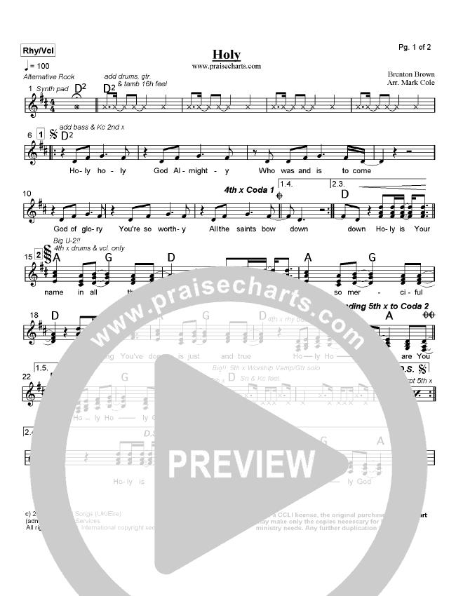 Holy Lead Sheet (Brenton Brown)