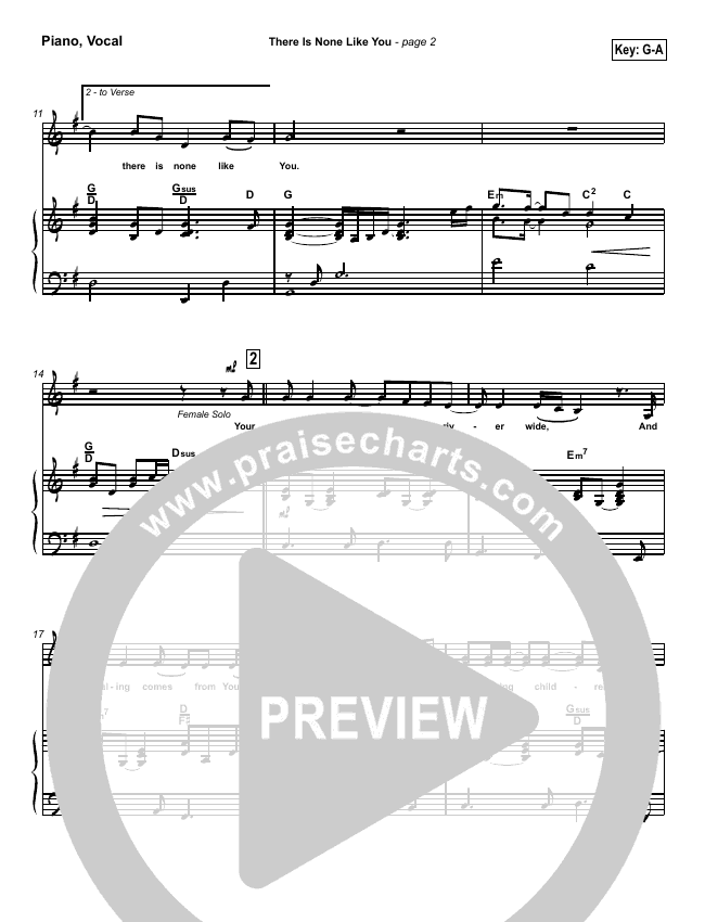 There Is None Like You Piano/Vocal (SATB) (Lenny LeBlanc)
