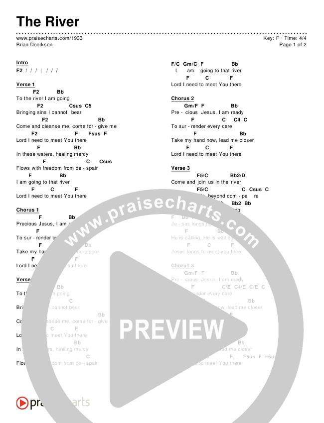 The River Chords - Brian Doerksen   PraiseCharts