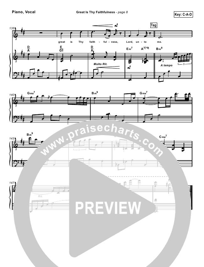 Great Is Thy Faithfulnesslead Sheet Pianovocal Brian Doerksen
