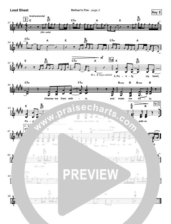 Refiner's Fire Lead & Piano/Vocal (Brian Doerksen)