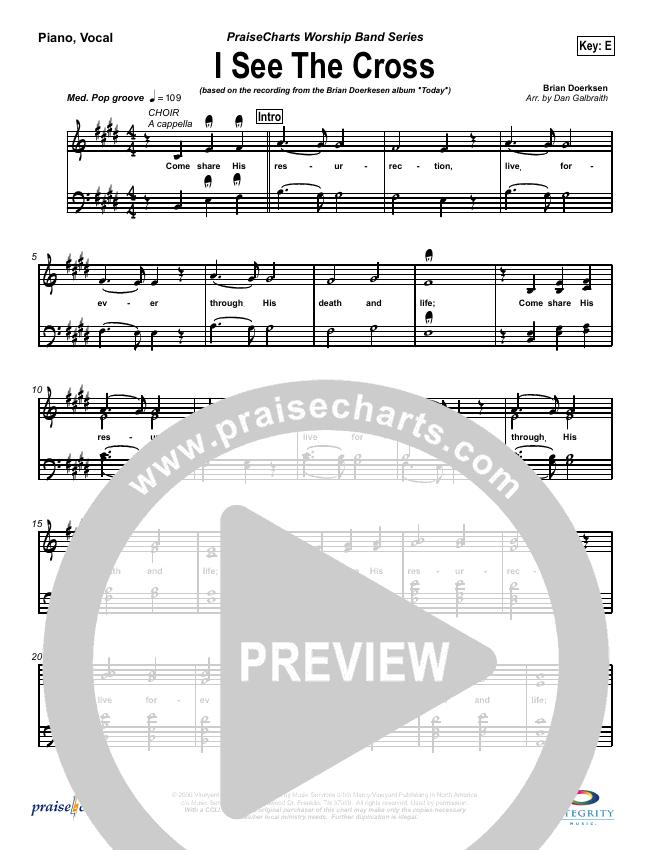 I See the Cross Piano/Vocal (SATB) (Brian Doerksen)