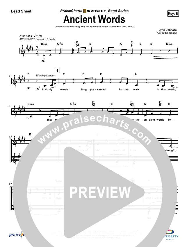 Ancient Words Orchestration (with Vocals) (Robin Mark)