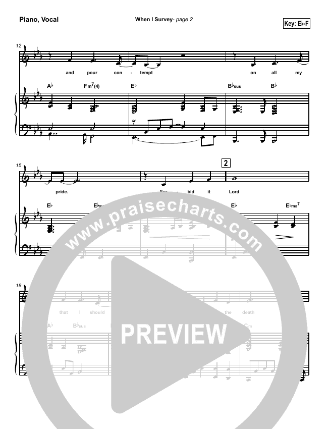 When I Survey (The Wondrous Cross) Piano/Vocal (SATB) (Kathryn Scott)