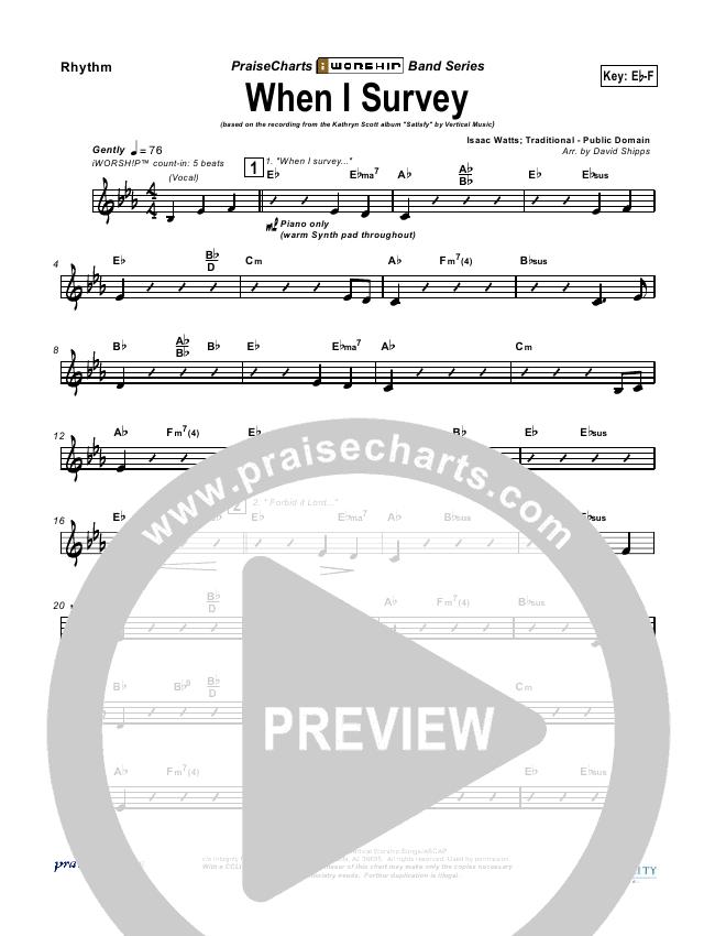 When I Survey (The Wondrous Cross) Rhythm Chart (Kathryn Scott)