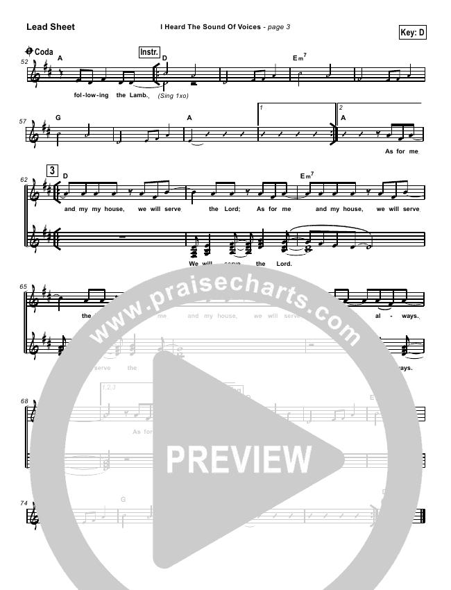 I Heard the Sound of Voices Lead & Piano (Robin Mark)