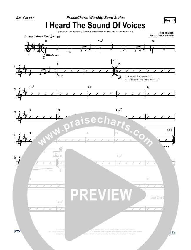 I Heard the Sound of Voices Rhythm Chart (Robin Mark)
