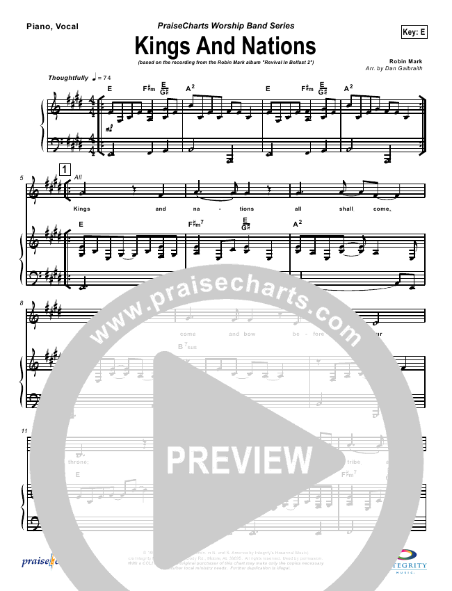 Kings And Nations Orchestration (Robin Mark)