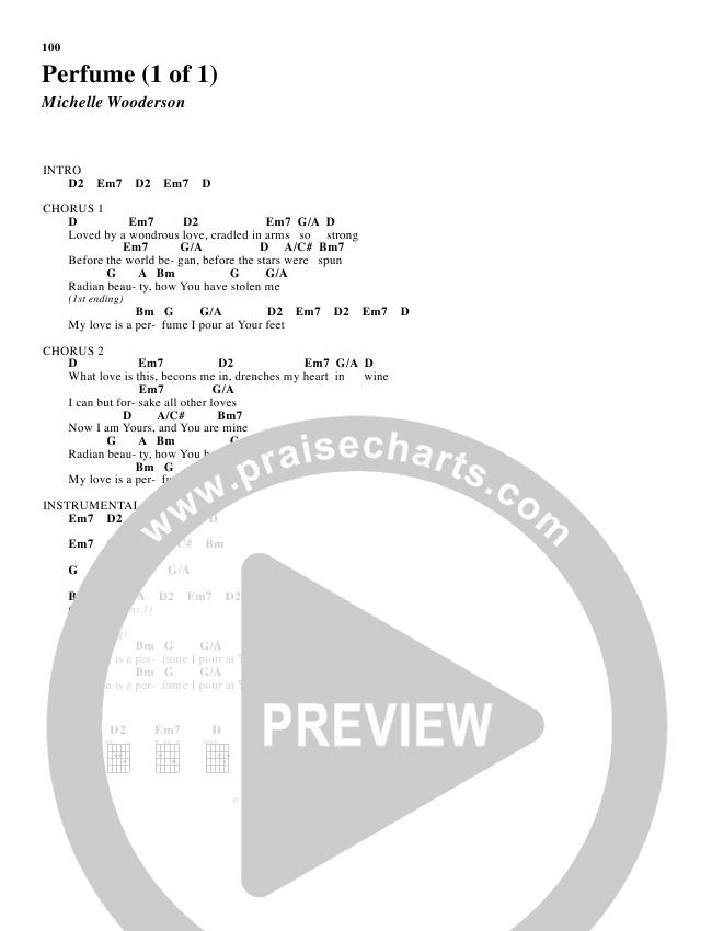 Perfume Chord Chart (Robin Mark)