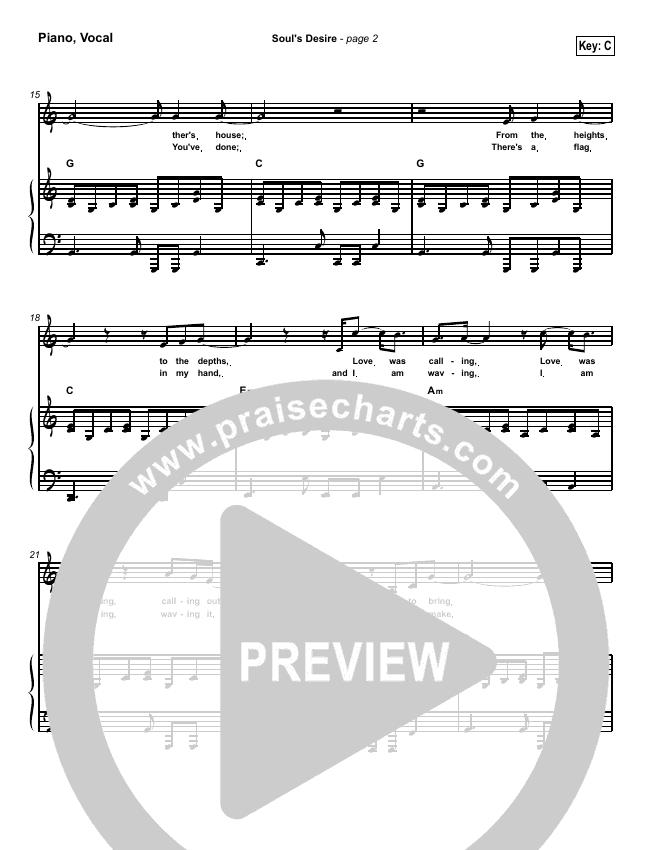 Soul's Desire Piano/Vocal (SATB) (Robin Mark)