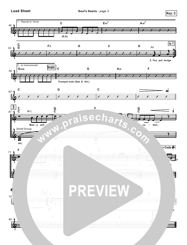 Soul's Desire Orchestration (Robin Mark)