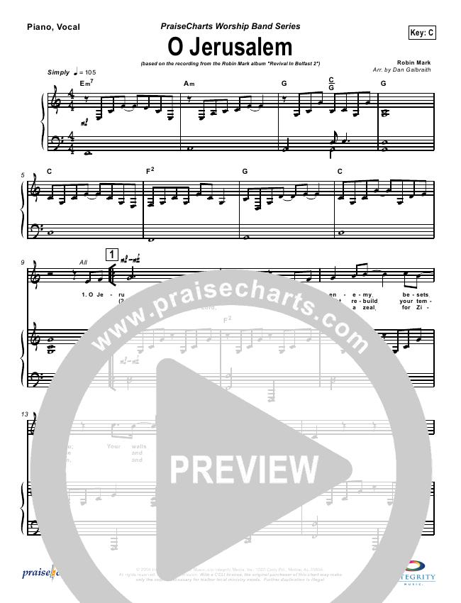 O Jerusalem Orchestration (Robin Mark)