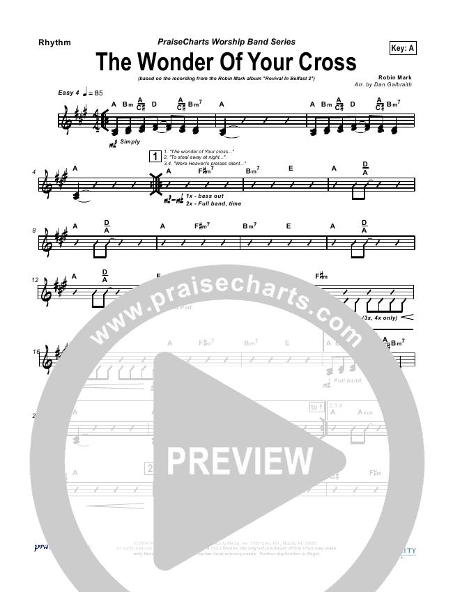 The Wonder Of Your Cross Rhythm Chart (Robin Mark)