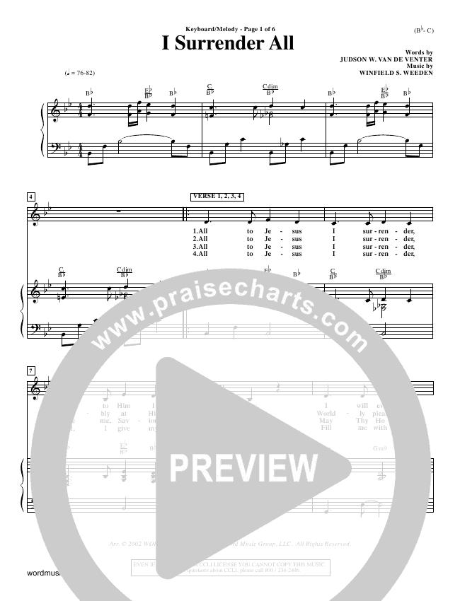 I Surrender All Orchestration (Judson van DeVenter)