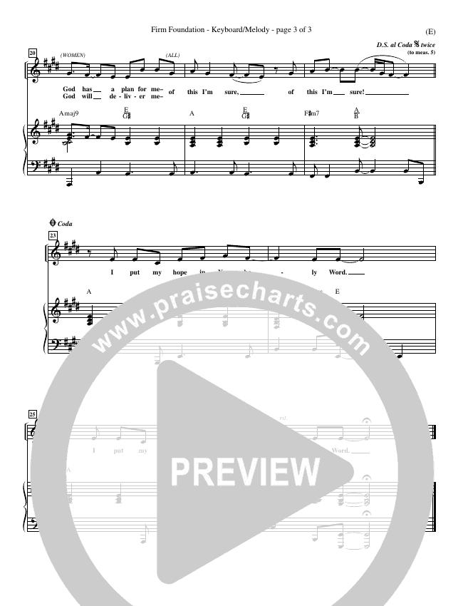 Firm Foundation Piano Sheet (Jamie Harvill)