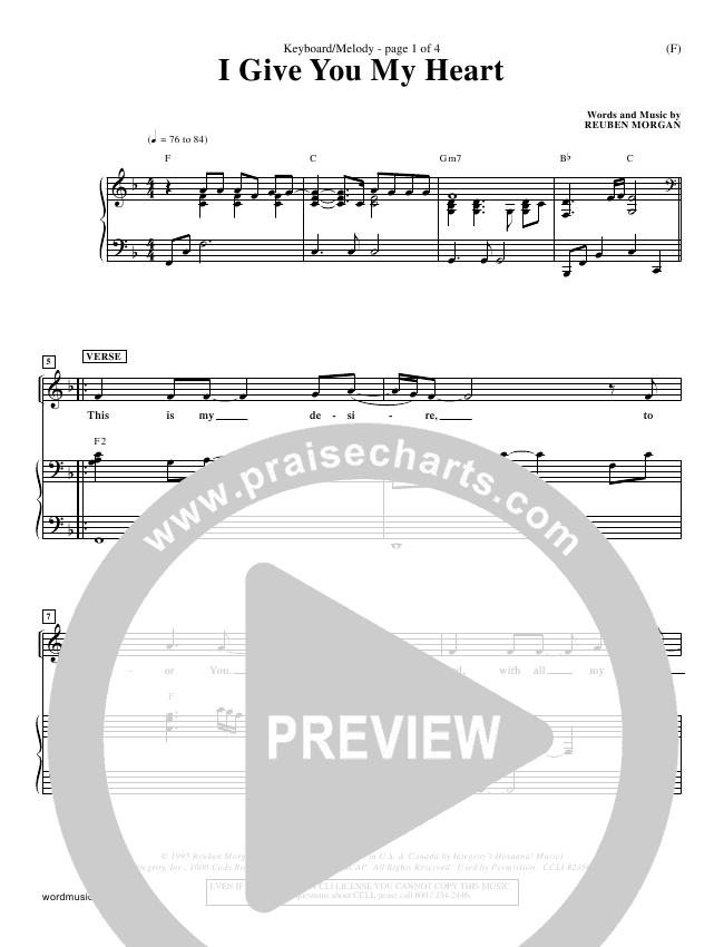 I Give You My Heart Orchestration (Reuben Morgan)
