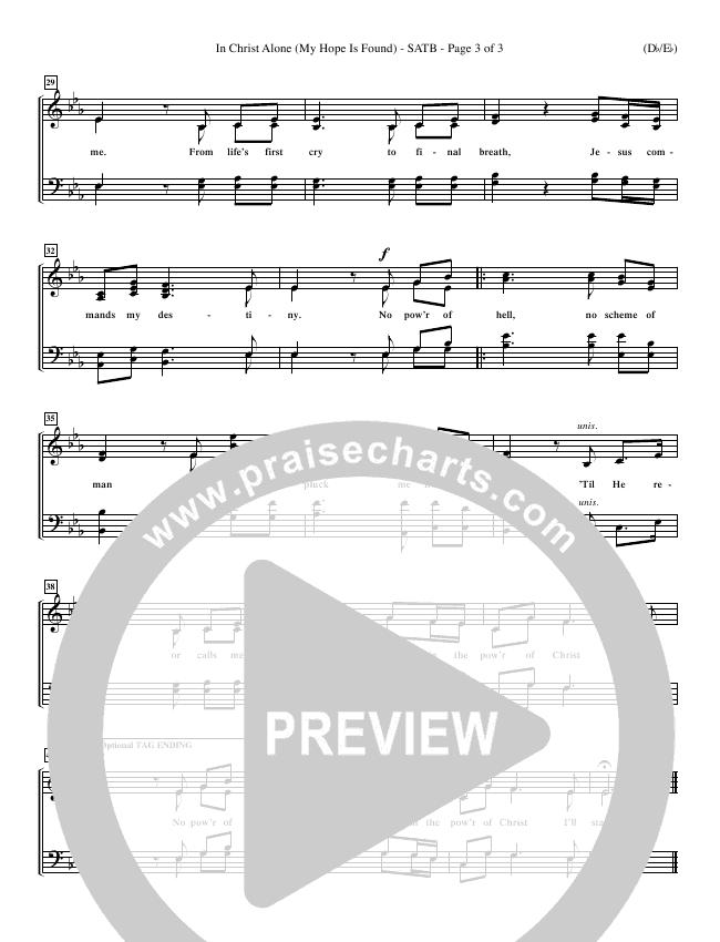 In Christ Alone Choir Sheet (SATB) (Stuart Townend)