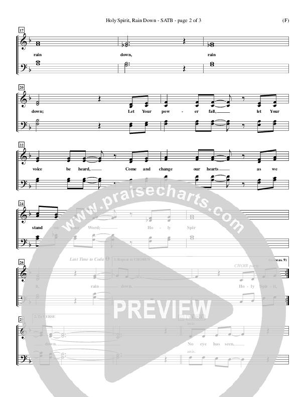 Holy Spirit Rain Down Choir Sheet (SATB) (Russell Fragar)