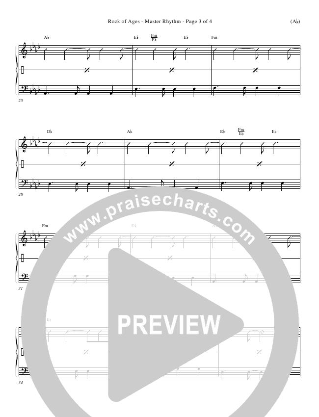 Rock Of Ages Rhythm Chart (Paul Baloche)