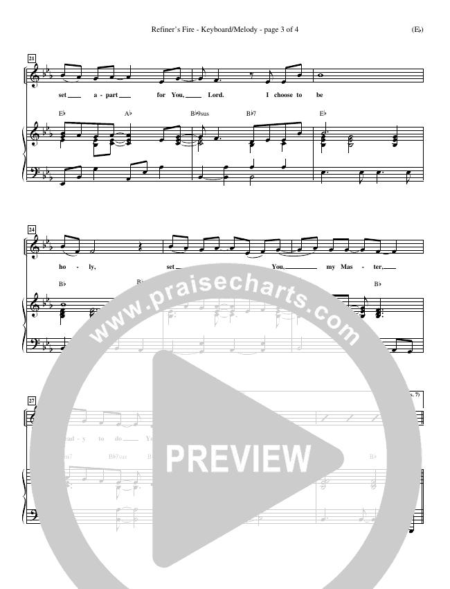 Refiner's Fire Piano Sheet (Brian Doerksen)