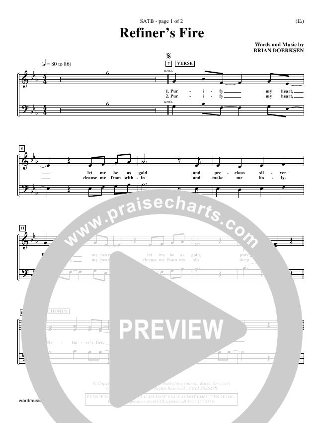 Refiner's Fire Choir Sheet (SATB) (Brian Doerksen)