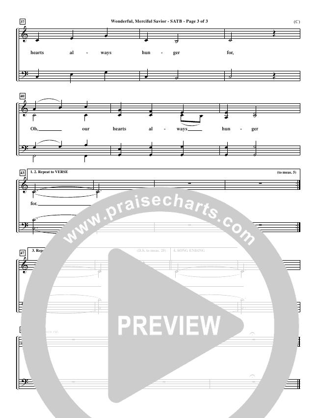 Wonderful Merciful Savior Choir Sheet (SATB) (Eric Wyse)