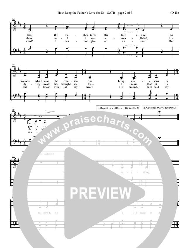 How Deep The Father's Love For Us Choir Sheet (SATB) (Stuart Townend)