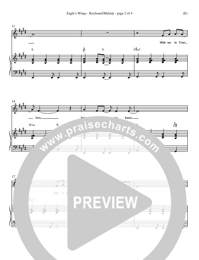 Eagle's Wings Piano Sheet (Reuben Morgan)